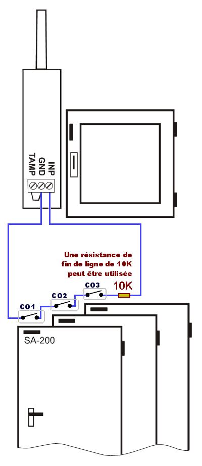 Mettre Plusieurs Détecteur Contacteur Du0027ouverture Sans Fil à Plusieurs Porte  Ou Fenêtre Sur La